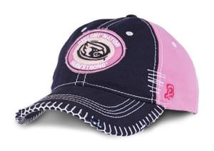 Iowa State Pink & Navy Heavy Stitched Cap - Brittany