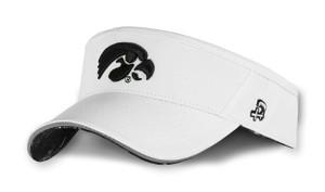 Iowa Hawkeyes White and Black Reflective Visor - Cash
