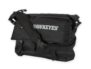 Iowa Hawkeyes Black Roll Top Messenger Bag - Jordan