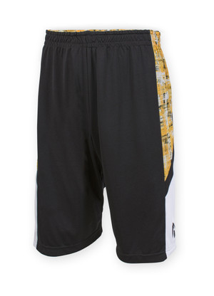 Iowa Hawkeyes Reversible Black & Gold Shorts - Ash