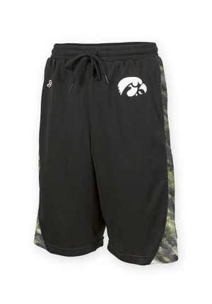Iowa Hawkeyes Black Mesh Shorts - Dexter