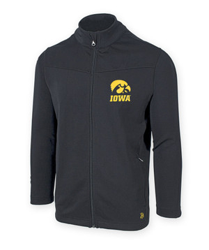 Iowa Hawkeyes Men's Black Fitness Jacket - Bowman