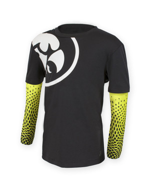 Iowa Hawkeyes Black & Yellow Youth Long Sleeve Shirt - Dakota