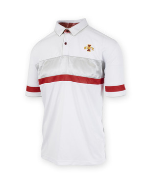 Iowa State Cardinal & White Performance Fitted Polo - Gabriel