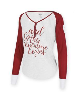 Iowa State Cardinal & White Long Sleeve Shirt - Madelyn