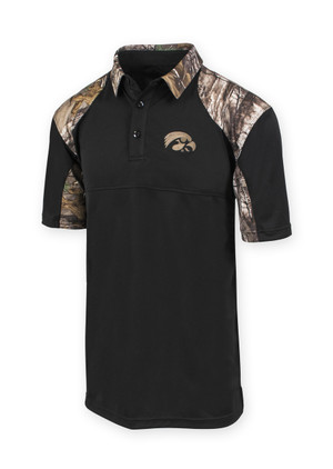 Iowa Hawkeyes Men's RealTree Camo Polo - Bryan