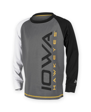Iowa Hawkeyes Youth Black and Gold Long Sleeve Shirt - Brier