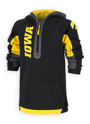Iowa Hawkeyes Black and Gold Youth Hoodie - Charlie