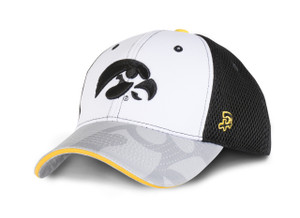 Iowa Hawkeyes Youth Black & White Cap - Braxton