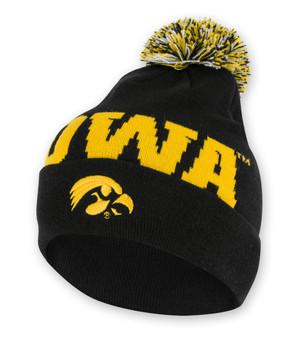 Iowa Hawkeyes Black and Gold Knit Beanie - Kayden