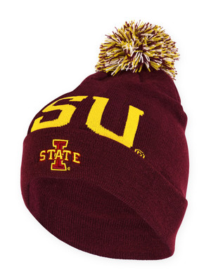 Iowa State Cardinal and Gold Knit Beanie - Kayden