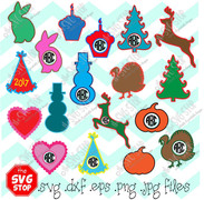 Simple designs variety pack for vinyl and fabric appliques