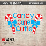 candy cane cutie clipart cut file svg dxf digital download