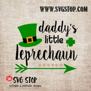 Daddy's Little Leprechaun St. Patrick's Day Cut File in SVG, DXF, JPG, PNG, and EPS format for Silhouette, Cricut, Brother Scan n cut, various other cutting machines and screen printing.