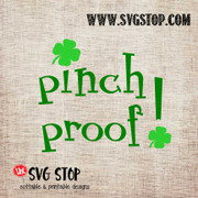 Pinch Proof St. Patrick's Day Cut File Clip Art in SVG, DXF, JPG, PNG, and EPS format for Silhouette, Cricut, Brother Scan n cut, various other cutting machines and screen printing.