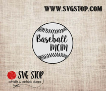Baseball Mom Outline Cut File in SVG, DXF, JPG, PNG, and EPS