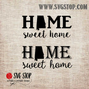 Alabama Home Sweet Home SVG, DXF, JPG, PNG, and EPS format cut file clipartfor Silhouette, Cricut, Brother Scan n cut, andvarious other cutting machines.