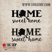 AlaskaHome Sweet Home SVG, DXF, JPG, PNG, and EPS format cut file clipartfor Silhouette, Cricut, Brother Scan n cut, andvarious other cutting machines.