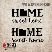 Utah Home Sweet Home SVG, DXF, JPG, PNG, and EPS format cut file clip art for Silhouette, Cricut, Brother Scan n cut, and various other cutting machines.