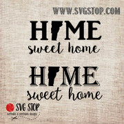 Vermont Home Sweet Home SVG, DXF, JPG, PNG, and EPS format cut file clip art for Silhouette, Cricut, Brother Scan n cut, and various other cutting machines.
