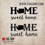 Washington Home Sweet Home SVG, DXF, JPG, PNG, and EPS format cut file clip art for Silhouette, Cricut, Brother Scan n cut, and various other cutting machines.