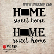 Wyoming Home Sweet Home SVG, DXF, JPG, PNG, and EPS format cut file clip art for Silhouette, Cricut, Brother Scan n cut, and various other cutting machines.