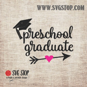 Preschool Graduate Arrow SVG, DXF, JPG, PNG, and EPS format cut file clipartfor Silhouette, Cricut, Brother Scan n cut, andvarious other cutting machines.
