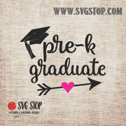 PreK Graduate Arrow SVG, DXF, JPG, PNG, and EPS format cut file clipartfor Silhouette, Cricut, Brother Scan n cut, andvarious other cutting machines.