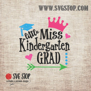 Little Miss Kindergarten Grad SVG, DXF, JPG, PNG, and EPS format cut file clipartfor Silhouette, Cricut, Brother Scan n cut, andvarious other cutting machines.