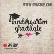 Kindergarten Graduate Arrow SVG, DXF, JPG, PNG, and EPS format cut file clipartfor Silhouette, Cricut, Brother Scan n cut, andvarious other cutting machines.