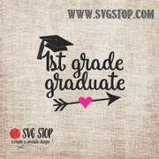 1st Grade Graduate Arrow SVG, DXF, JPG, PNG, and EPS format cut file clipartfor Silhouette, Cricut, Brother Scan n cut, andvarious other cutting machines.