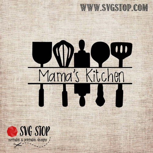 Kitchen Utensils Cut File The Svg Stop