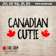 Canadian Cutie | Canada | Clip Art | Cut File | SVG, DXF, JPG, PNG, EPS format | Silhouette | Cricut | Sublimation Printing