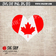 Canada heart flag maple leaf clipart cut file