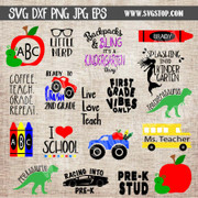 back to school bundle clip art cut files