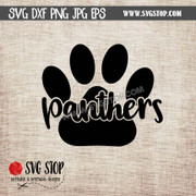 panther paw cut out design