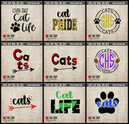 cats mascot clipart cut file