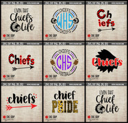 chiefs mascot cut file clipart