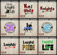knights mascot clipart cut file svg digital design