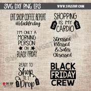 black friday shopping shirt graphics cut file clipart