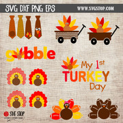 turkey thanksgiving clipart cut files digital download