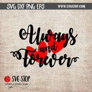 Always and Forever hearts clipart cut file