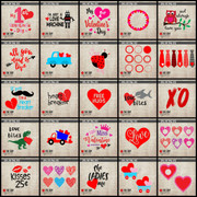 Valentines Day SVG Clip Art Cut File