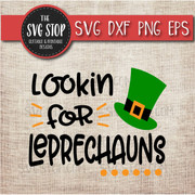 Lookin For Leprechauns SVG DXF PNG EPS Clipart Cut File