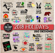 holiday svg bundle all occasions st patricks day, Easter, christmas, july 4th, graduation, teacher appreciation, thanksgiving, valentines day clipart cut file