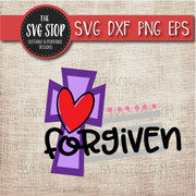 Forgiven cross Easter Svg Clipart Cut File