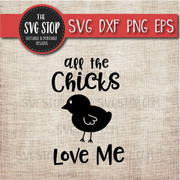 Chicks Love Me Easter Svg Clipart Cut File