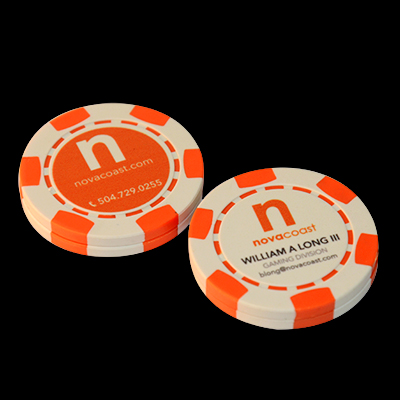 Poker Chip Business Cards