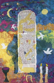 Colors Of Life Ketubah - Classic Size