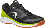 Head Men's Sprint Pro Black/Lime Racquetball Shoes